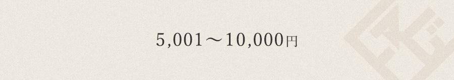 5,001円~10,000円